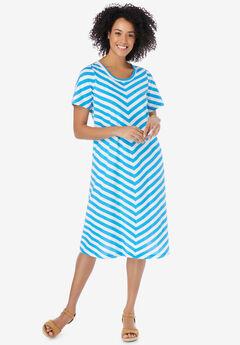Mitered Stripe Dress,