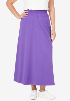 Jersey Knit Long Skirt,