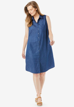 Sleeveless Shirtdress,