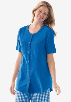 Short sleeve crinkle shirt,