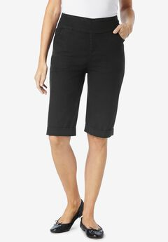 Pull-On Denim Shorts,