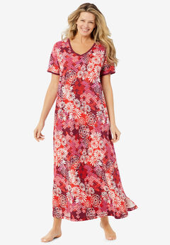 Long T-Shirt Lounger , POMEGRANATE FLORAL