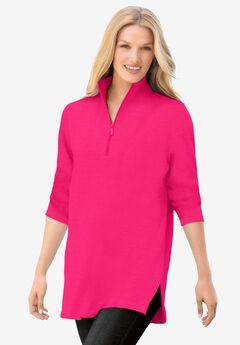 French Terry Quarter-Zip Sweatshirt,