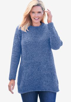 Chenille Crewneck Sweater,