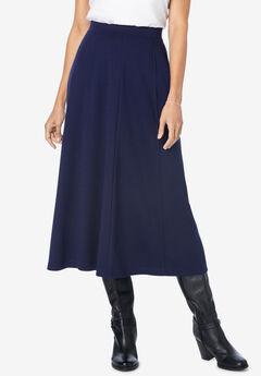 Ponte Knit A-Line Skirt,