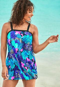 Banded Swim Dress,