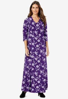 Maxi Dress, RADIANT PURPLE PRETTY FLOWERS