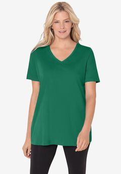 Perfect Short-Sleeve V-Neck Tee,
