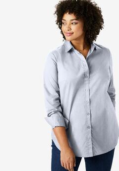 Perfect Long-Sleeve Button Down Shirt, CHAMBRAY