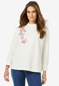 Embroidered Crewneck Sweatshirt,