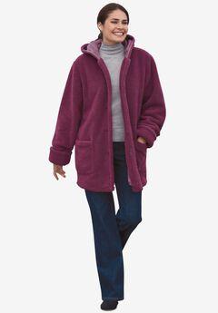 Hooded Berber Fleece Jacket,