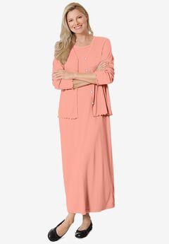 Lettuce Trim Knit Jacket Dress,