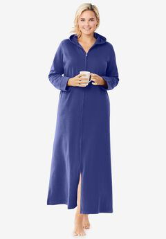 Hooded Fleece Robe , ULTRA BLUE