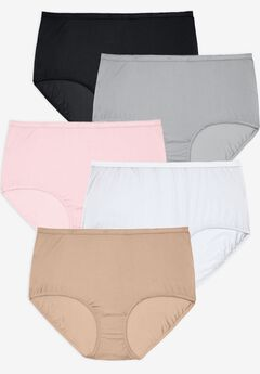 5-Pack Nylon Full-Cut Brief ,