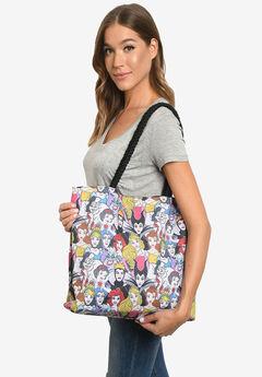 Disney Princesses & Villains Tote Bag Travel Beach Carry-on All-over Print,