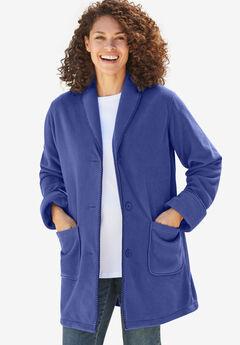 Shawl Collar Fleece Coat,