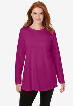 Long Sleeve Crewneck Perfect Tunic,