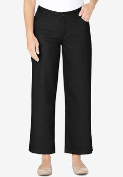 Wide-Leg Cropped Stretch Jean,