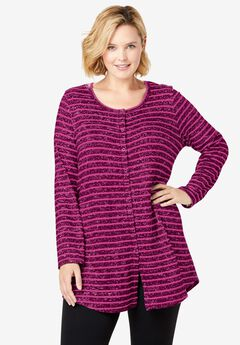 Cozy Button-Front Tunic,