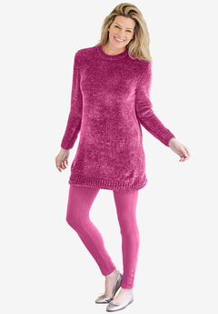 Chenille Crewneck Sweater,