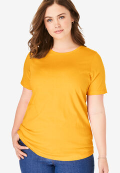 Perfect Short-Sleeve Crewneck Tee,