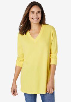 Three-Quarter Sleeve Thermal Sweatshirt,
