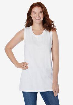 Perfect Cotton Sleeveless Crewneck,