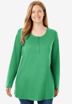 Perfect Long-Sleeve Henley Tee,