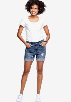 Frayed Hem Shorts,