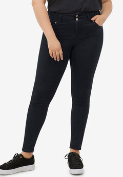 2-Button Stretch Skinny Jeans,