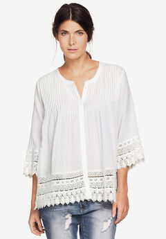Crochet Trim Blouse,