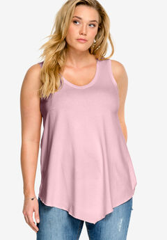 V-Neck Pointed Front Tank,