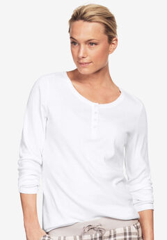Long Sleeve Henley Sleep Tee,