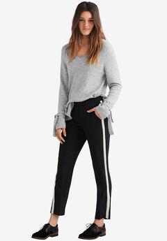 Cropped Straight Leg Pants,