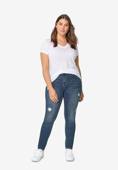 Distressed Skinny Jeans,