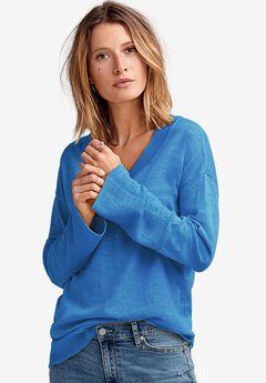 Pointelle Bell-Sleeve Sweater,