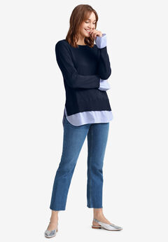 Fine Gauge Layered Pullover,