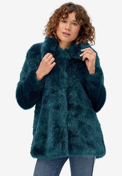 Blue Faux Fur Coat,