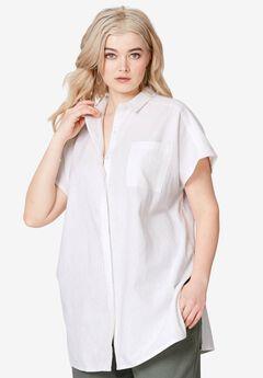 Oversized Linen Blend Tunic,