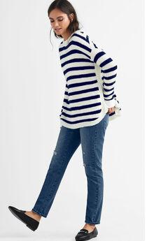 Striped Tunic Sweater,