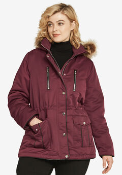 4-Pocket High-Low Parka,