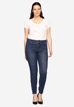 Ankle Zip Skinny Jeans,
