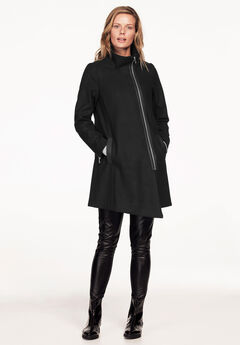 Asymmetrical Zip Coat,