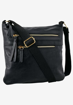 Multi-Zip Crossbody Bag,