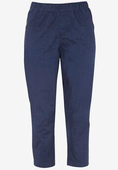 Stretch Twill Capri Leggings,