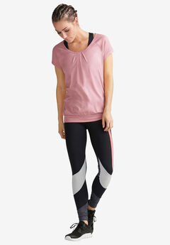 Pleated-Front Cap Sleeve Tee,