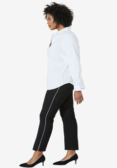 Slim Back Elastic Cropped Pants,