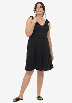Tie-Shoulder Dress,