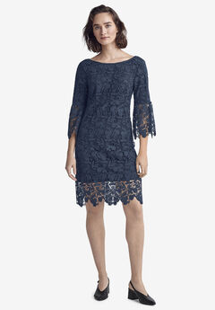 Bell Sleeve Lace Dress,
