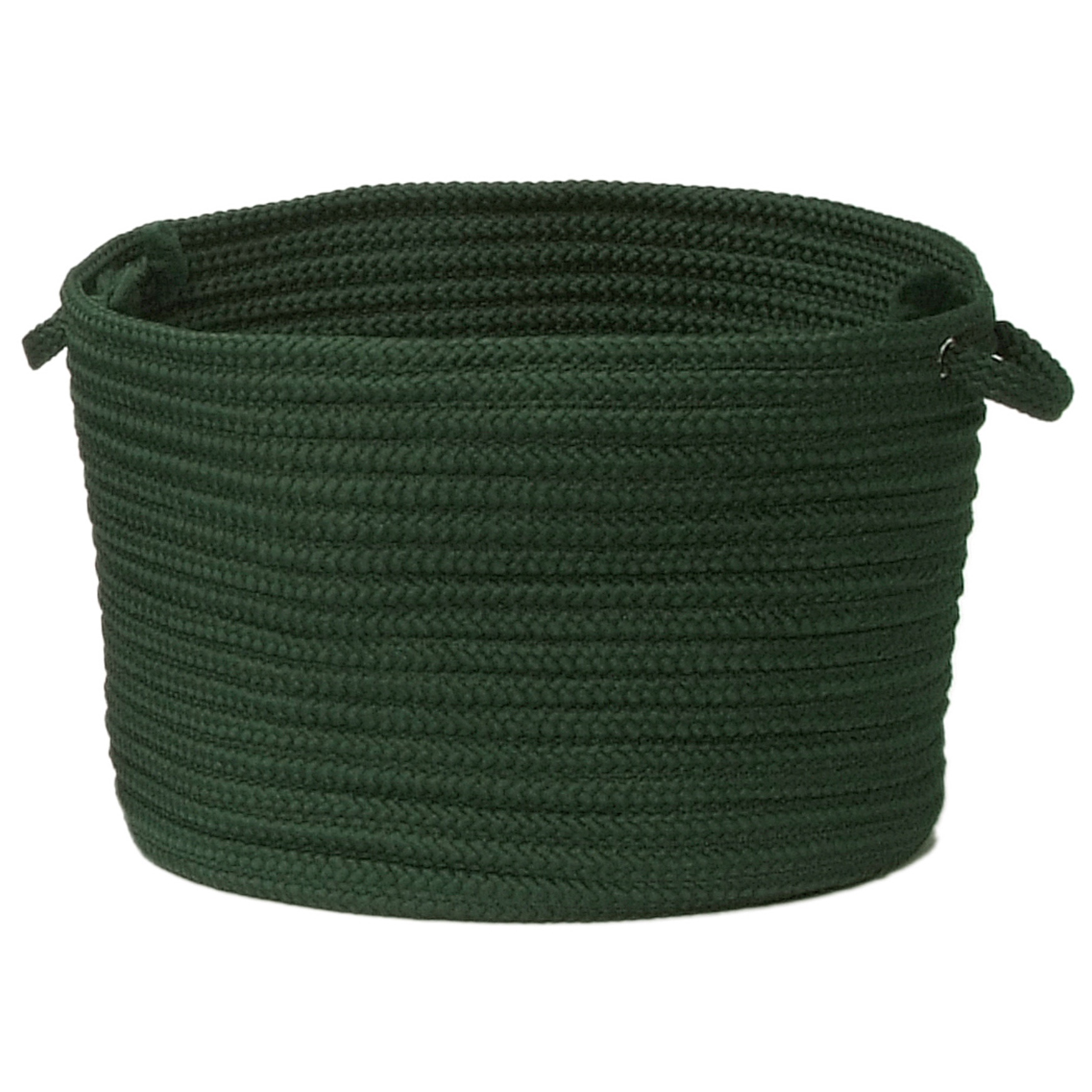 Simply Home Solid Basket , DARK GREEN